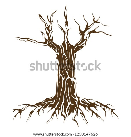 wood and roots vector art