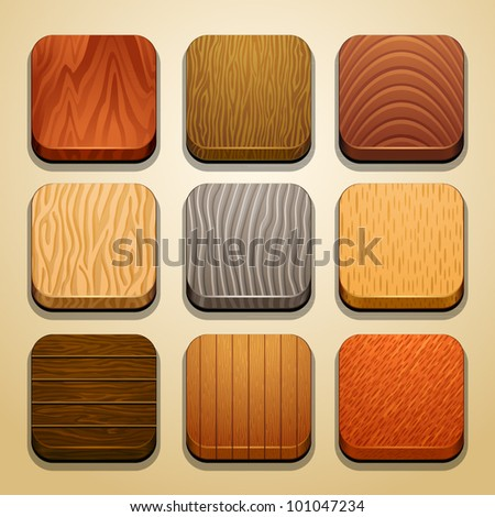 wood background for the app icons-part 2 - stock vector