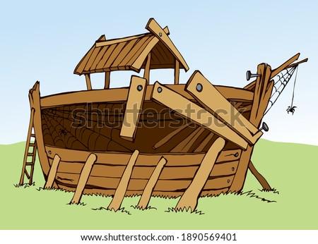wood big arc build home ruin