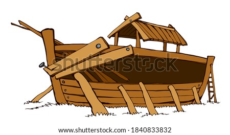 wood big line arc build home