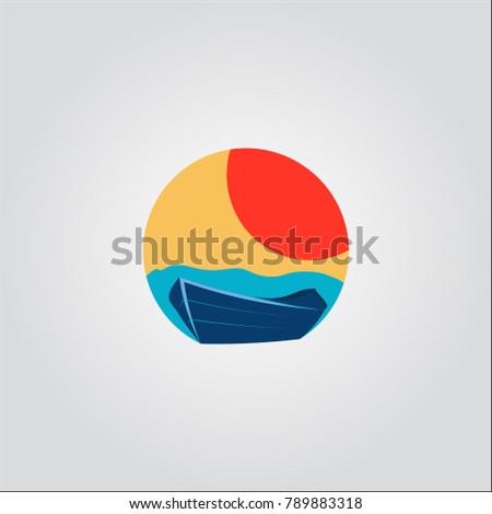 wood boat logo