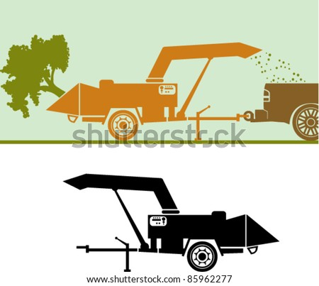 Wood chipper vector file