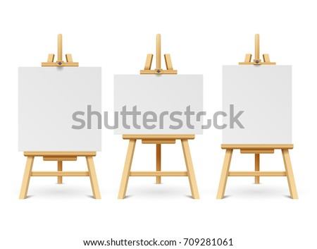 wood easels or painting art