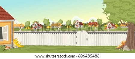 wood fence on the backyard of a