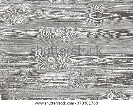 Wood grunge texture in black and white. Wooden background. Vector template.  Grunge vector texture.