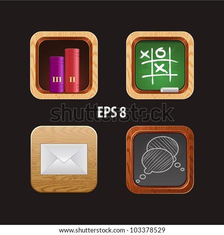 wood icon app