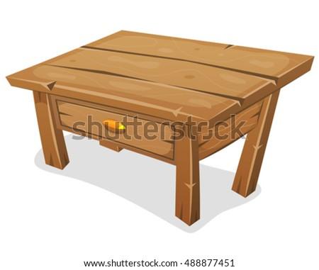 wood little table  illustration