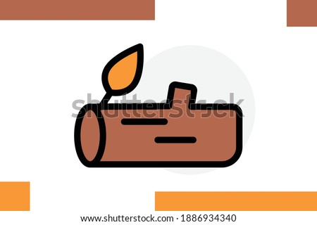 wood  log  nature  icon for