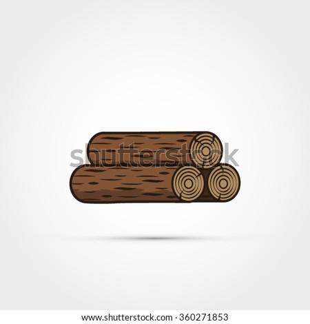wood logs illustration