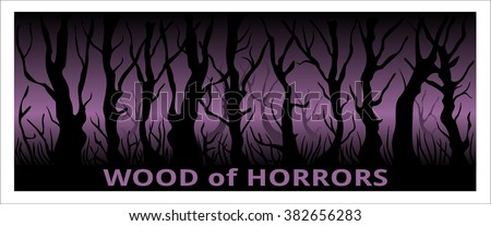 wood of horror landscape  trees