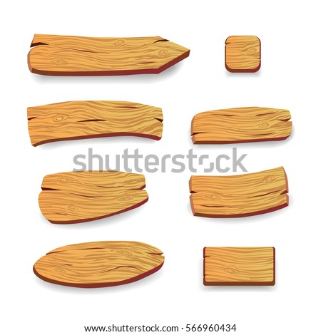 Wood panels. Vector