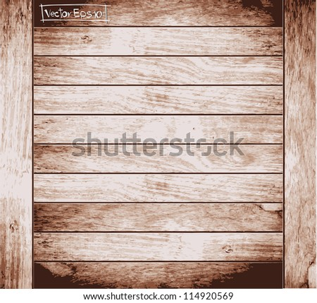 Wood plank brown texture background, Vector illustration