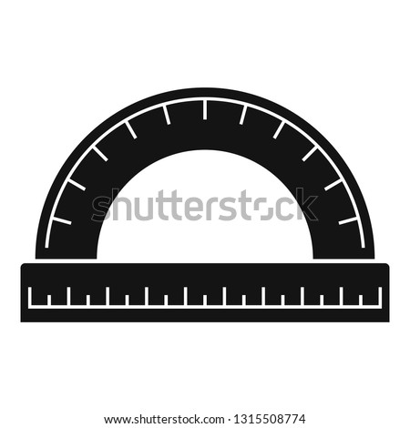 Wood protractor icon. Simple illustration of wood protractor vector icon for web design isolated on white background
