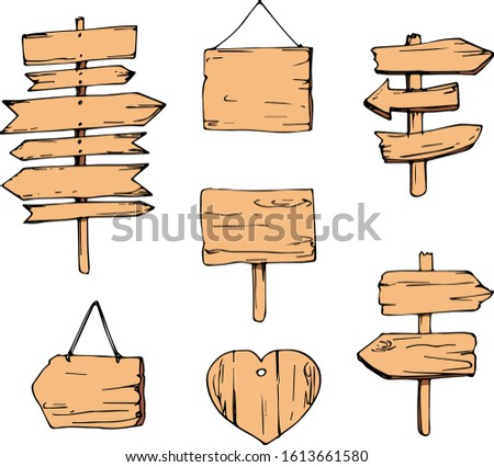 wood signboards and arrow signs