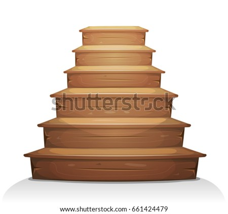 wood stairs  illustration of a...