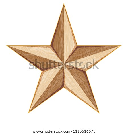 Wood Star illustration #1115516573