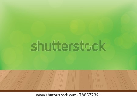 wood table top on blur abstract
