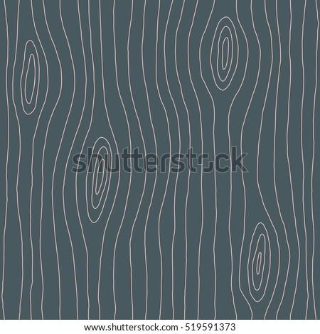 Wood texture hand drawn seamless pattern. Wood lines, grain. Vector illustration