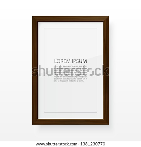 Wood texture Vector frame for image and text #1381230770