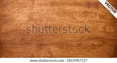 Wood texture vector. Old brown wooden background table surface. Vintage plywood textur
