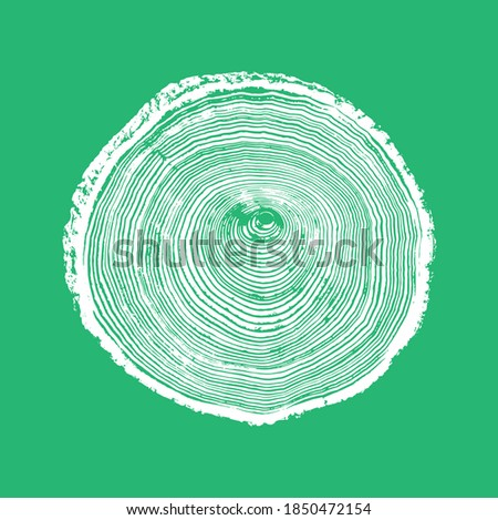 Wood tree art texture stamp for card or background. Detailed tree ring design. Rough organic tree rings with close up of end grain.  Foto stock ©