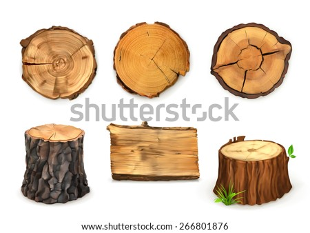 wood  vector set banners and