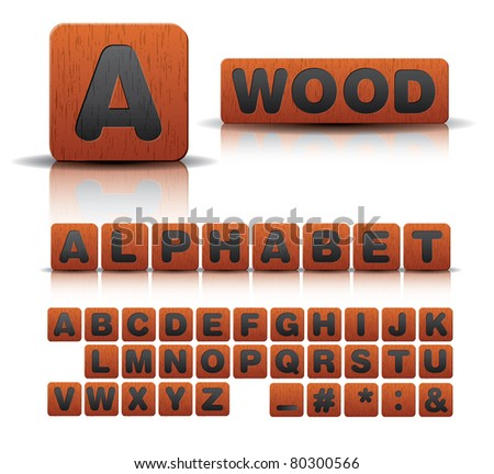 wooden alphabet set