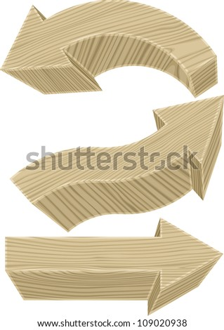 Wooden arrows. Vector illustration