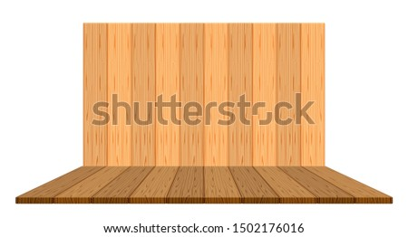 wooden backdrop for display and copy space, panel wood plank empty front view for background, wooden brown for decoration stage floor display, vintage wood plank for banner design, wooden plank wall