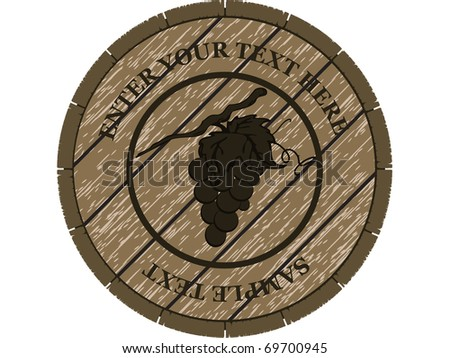 wooden barrel for wine vector design or card