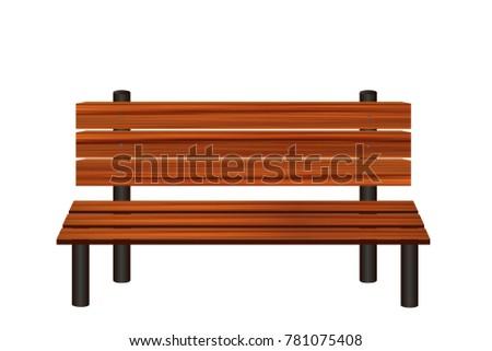 Wooden Bench Graphic Vector