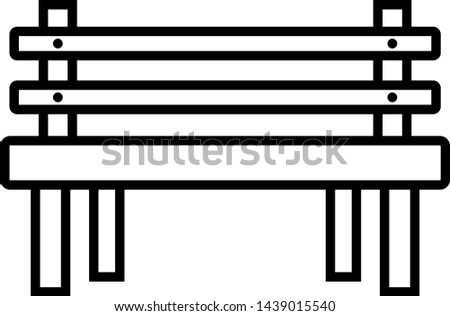 Remarkable Wooden Bench Line Black Icon Download Free Vectors Machost Co Dining Chair Design Ideas Machostcouk