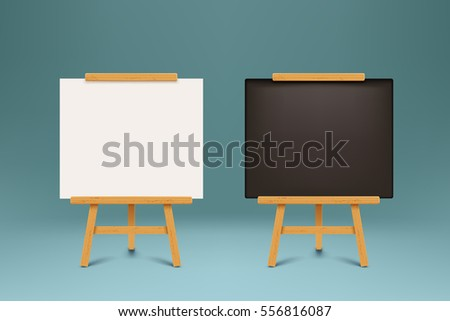 wooden blackboards set