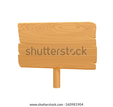 wooden board icon on white