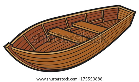 Royalty Free Isolated Small Wooden Boat Cartoon 315980780 Stock