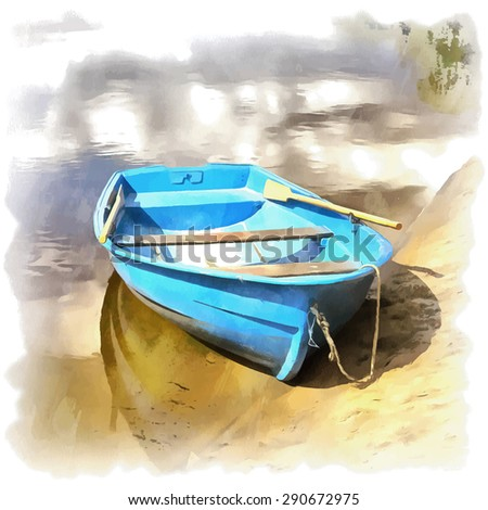wooden boat on the water