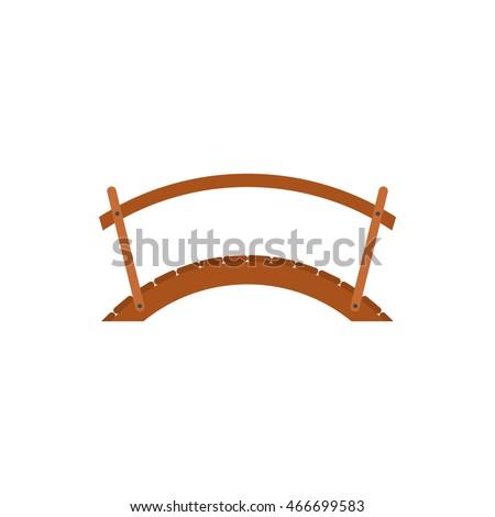 wooden bridge with handrail