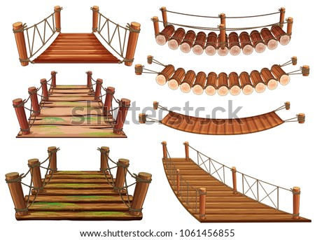wooden bridges in different