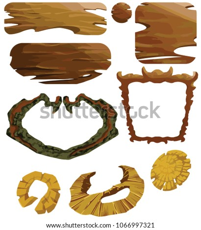 wooden brown game set made for