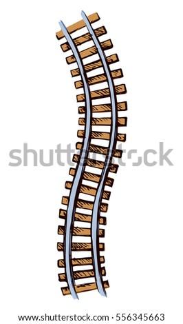 wooden brown ties and wavy bend ...