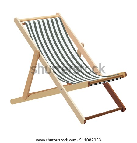 wooden chaise lounge on a white