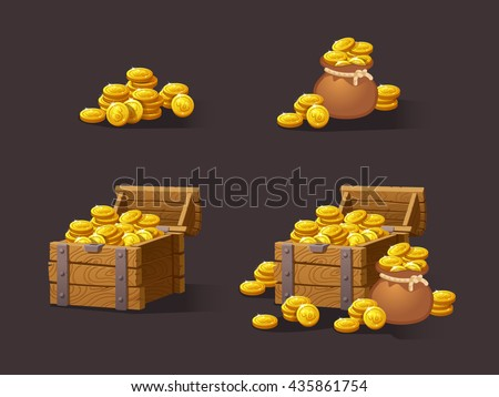 wooden chest set for game