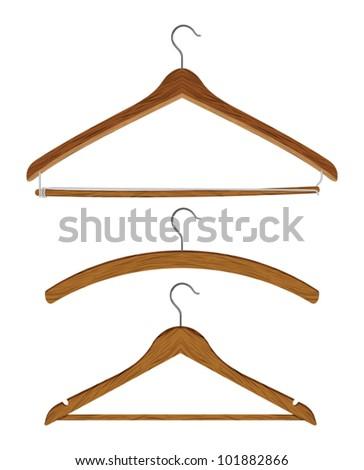 wooden clothes hanger set