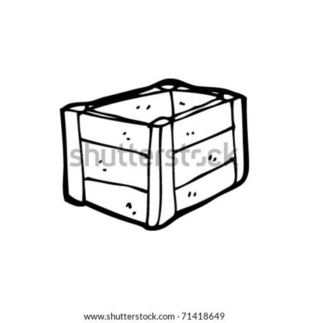 wooden crate cartoon