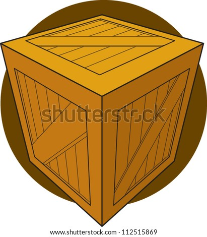 wooden crate or box