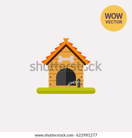 wooden dog house icon