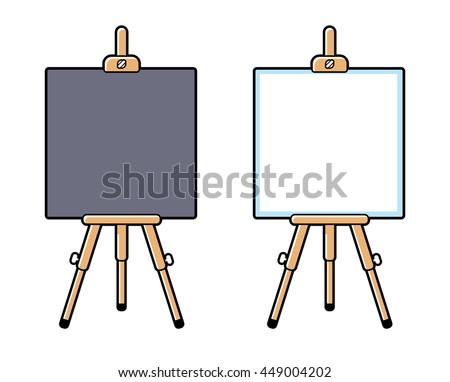 wooden easel or presentation