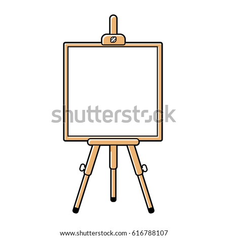 wooden easel or presentation