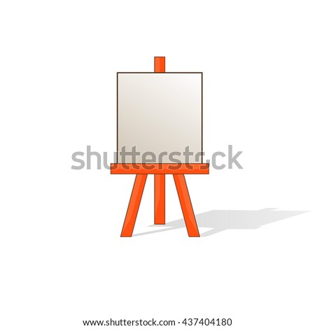 Wooden easel with blank space