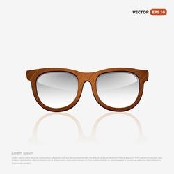 Wooden eyeglasses frame - vector illustration